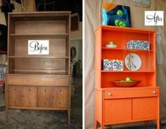 Furniture makeovers before and after - Little Piece Of Me #repurposedfurniturebeforeandafter