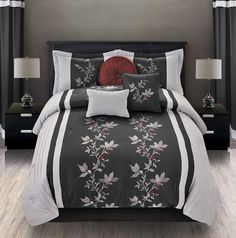 7Pcs Queen Mia Embroidered Comforter...   $49.99