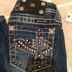 "Miss Me Size 10 Girls jeans Waist 24"" JK6127B MK121 FLYING CROSS NWT #MissMe #BootCut"