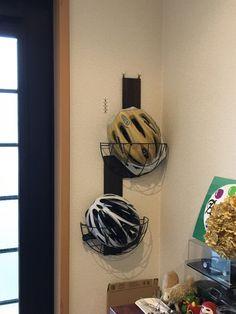 自転車用ヘルメットの収納場所を自作 #自転車ヘルメット置き場 #自転車ヘルメットホルダー #自転車ヘルメット保管場所