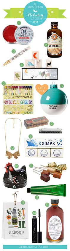 The Gift Guide: Stocking Stuffers | The Sweetest Occasion