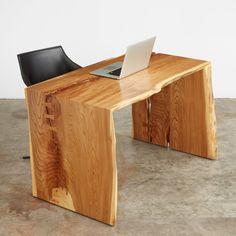mitered desk  #UrbanHardwoods #SalvagedWood