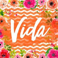 COLEÇÃO | COISAS BOAS - Larissa Grace - Lettering aquarelado VIDA (Life)