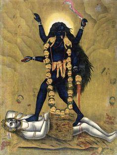 Hindu Goddess Kali Stepping on Shiva Black Bangladesh Puja Statue KALB Indian Goddess, Kali Goddess, Mother Goddess, Mother Kali, Divine Mother, Mother India, Kali Hindu, Hindu Art, Maa Kali Images