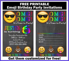 Planning an Emoji Birthday party soon? I have to admit, I'm kind of surprised that Emoji's are such a big hit still. My kids love them, though, and I've received several emails asking for an Emoji themed birthday invitation. I whipped up this fun invite and adding it to a roundup of 9 awesome emoji…