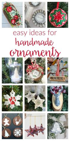 Creative Halloween Costumes - The Best Way To Be Artistic Over A Budget So Many Easy Ideas For Handmade Christmas Ornaments Diy Your Own To Keep As Decorations Or Gift Using Fabric, Wood, Vinyl, Glitter, Paint And Christmas Neighbor, Frugal Christmas, Christmas Love, Christmas Holidays, Neighbor Gifts, Christmas Trees, Happy Holidays, Merry Christmas, Handmade Ornaments