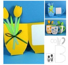 Nice handmade card with flowers for Mothers day
