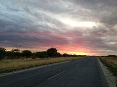 Khorixas-Outjo Road Sunset on Khorixas-Outjo Road
