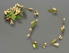 Orange blossom bridal wreath, French, about 1890.