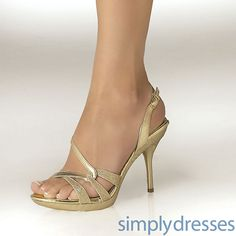 low gold heels | Dress, Fortuna Gold - Simply Dresses