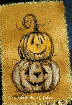 Jack o' lantern, Jack o and Art illustrations on Pinterest
