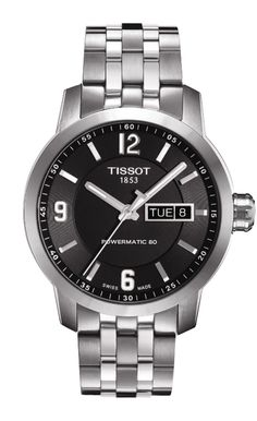 Tissot T-Sport PRC200 Automatic Day Date Powermatic 80 Stainless Steel Watch# T055.430.11.057.00 (Men Watch)