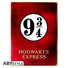 PLACA DE METAL HARRY POTTER 9 3/4 28X38, el mejor precio, ¡Es hora de saltar en el Hoghwarts Express! Rápido, vaya a la plataforma 9 3/4! - Impresión de alta calidad en metal. - Grabado selecti...