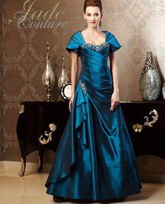Jade Couture K158005 Cape Shoulder Dress