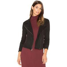 Benjamin Jay Raider Jacket (132 AUD) ❤ liked on Polyvore featuring outerwear, jackets, coats & jackets, benjamin jay and zip front jacket