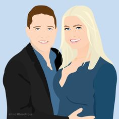 Order your custom, one-of-a-kind illustration. Illustrated by a professional designer in a modern, block colour style. Perfect for a gift, to use on social media or as a print in your home/office. Digital Illustration, Color Blocking, Social Media, Illustrations, Colour, Rose, Creative, Modern, Gift