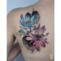 @_bogyi_ - lotus flowers and paper boat -