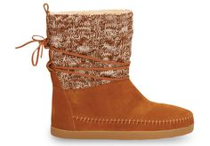 Chestnut Cable Knit Suede Women's Nepal Boots..  ..I Want!!!!!!!!