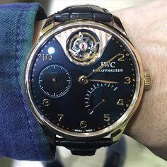 IWC Portuguese Tourbillon Mystere. #iwc #portuguese #tourbillon #mystere #rosegold #watchporn #watchmania #wristwatch #watchoftheday #timepiece #secondhand #instawatch by budi_gmt