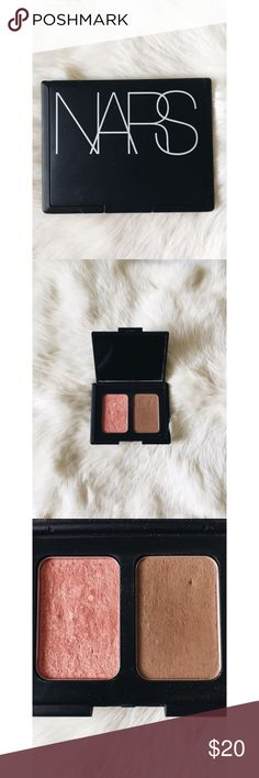 •NARS•Duo Blush&Bronzer •Orgasm/Laguna• NARS Blush and Bronzer duo used but has plenty of product left. NARS Makeup
