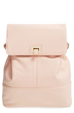 Cesca 'Lenna' Faux Leather Backpack available at #Nordstrom #Summer #Pink