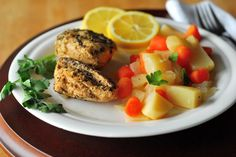 Our favorite weeknight crock pot dinner: lemon crock pot chicken! So easy, filling, and delicious.