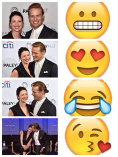 """RT @AngelaTsoukalas: Sam & Cait in Emoji #PaleyFest #PaleyOutlander #Outlander """" love this!"""