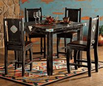 Turquoise Diamond Dining Table & Chairs - 5 pcs