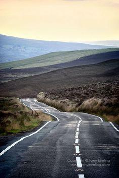 View along the B4391 road towards Bala town, Llangywer, Gwynedd, Wales United Kingdom