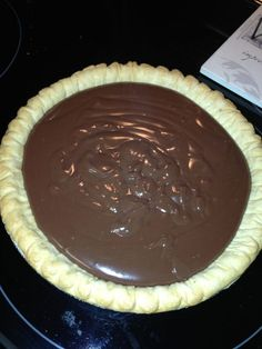 Mawmaw's Old Fashioned Chocolate Pie. 1/3 cf cocoa powder 1/3 c corn starch 1 c sugar 3 c milk Pour all ingredients into sauce pan. Stir continuously. This process takes a while to form into a pudding. Just keep stirring w/o stopping until it thickens. Pour into precooked pie shell. Immediately refrigerate.: