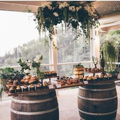 Modern rustic sweet table Read more at : http://theweddingly.com/