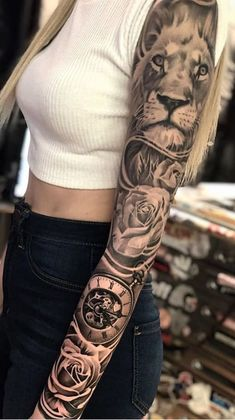 20 Female Arm Tattoos closed awesome - I love tattoos Arm Sleeve Tattoos For Women, Shoulder Tattoos For Women, Best Sleeve Tattoos, Forarm Tattoos, Small Forearm Tattoos, Body Art Tattoos, Tattoos Masculinas, Tattos, Feminine Tattoo Sleeves