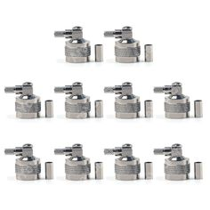 Sale 10 Pcs Connector N Male Crimp 90 Degree RG58 RG142 LMR195 RG400 Cable Right Angle Body Brass minijack plug Wire Connector #Affiliate