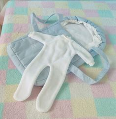 A lovely white babygro and blue nest by Gotz a little reminiscent of Baby Nest. Baby Nest, The Originals, Kids, Blue, Outfits, Clothes, Young Children, Boys, Suits