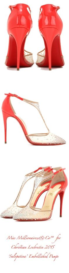 Christian Louboutin 2015 - 'Salopatina' Embellished Pumps z| House of Beccaria~
