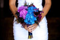 Wedding Inspiration: Utah Wedding Blue and purple bouquet