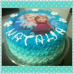 Ombre cake frozen