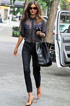 Miranda Kerr on the street in New York - celebrity fashion