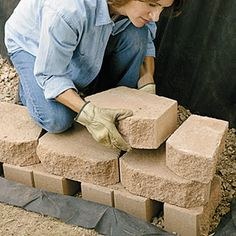 Build a Retaining Wall With Landscape Blocks                                                                                                                                                                                 More
