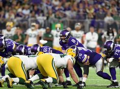 Sam Bradford of the Minnesota Vikings under center during the first half of their game against he Green Bay Packerson Sept. 18, 2016 at U.S. Bank Stadium in Minneapolis.