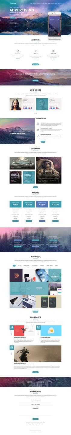 Luispro + One Page UI Design + 1170 Grid System + Flat & User Friendly… Layout Design, Graphisches Design, Web Layout, Graphic Design, Ecommerce, Affinity Photo, Website Layout, Website Themes, Banners