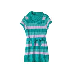 Girls Plus Size It's Our Time Splitneck Striped Sweater Tunic, Girl's, Size: Xxl Plus, Green Oth