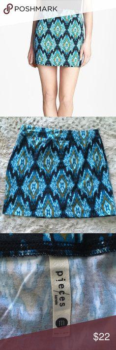 Pieces by Kensie Ikat-print stretch mini skirt Pieces by Kensie Ikat-print stretch mini skirt Kensie Skirts Mini