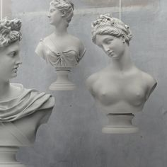 Young & Battaglia's Suspended Statuary is a set of three pendant lights, based on statues of the ancient  Greek and Roman gods Apollo, Venus and Diana.