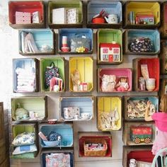 DIY Mason Jar Storage - Wallmounted Boxes for Knick Knacks - Click Pic for 44 Easy Organization Ideas for the Home