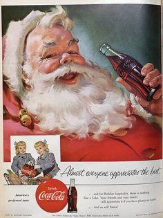 Santa and Coke 1955