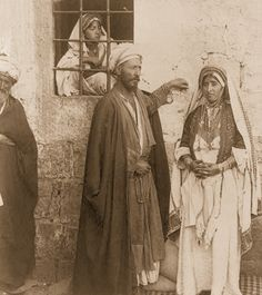 Ramallah-رام الله: Ramallah Bride and Groom, 1900s