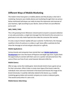 Different Ways of Mobile Marketing Creative Advertising, Advertising Agency, Digital Media Marketing, Used Mobile Phones, Mobile Marketing, 3d Animation, Lead Generation, Different, Uae