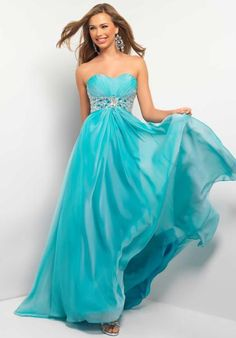 Blush 9509 at Prom Dress Shop  **In Lime Green**
