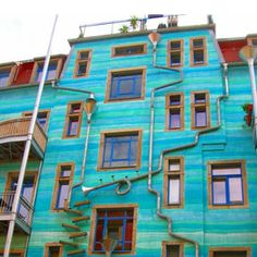 """""""A Wall That Plays Music When It Rains.  Every time it starts to rain, this colorful Kunsthofpassage Funnel Wall in Germany turns into a charming musical instrument orchestra. According to Atlas Obscura, this wall is one of the strangest and most enjoyable attractions in Dresden's student district in the new town.""""  Via Demilked."""